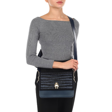 Женская стеганая сумочка через плечо Cavalli Class