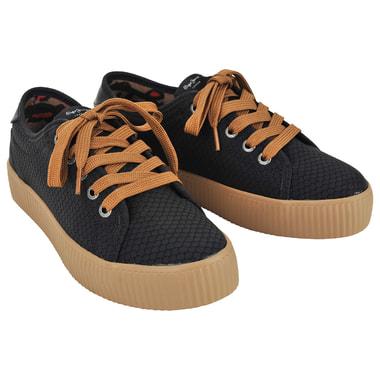 Женские черные кроссовки Pepe Jeans London