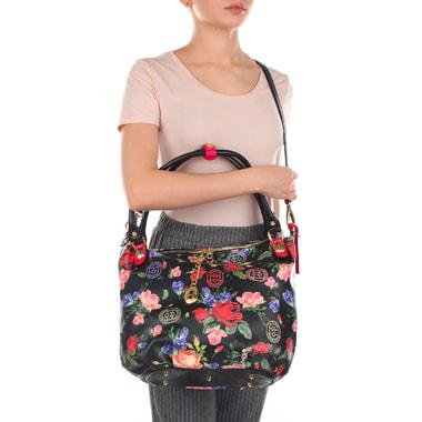 Женская кожаная сумка с двумя отделами Marino Orlandi
