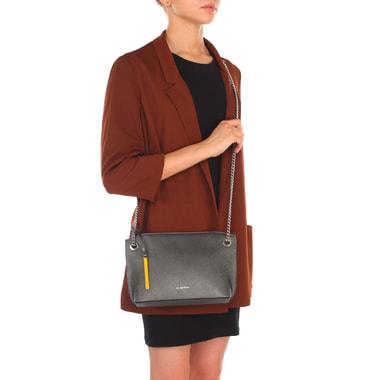 Женская кожаная сумочка на цепочке через плечо Cromia