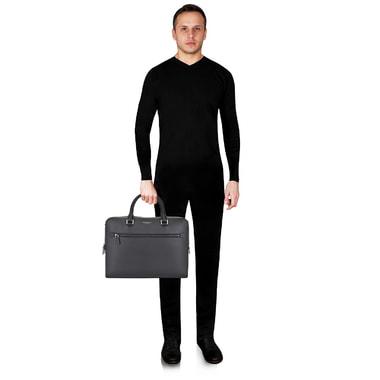 Мужская кожаная деловая сумка Michael Kors Men