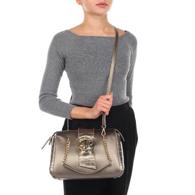 Женская бежевая сумка с плечевым ремешком Cavalli Class