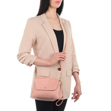 Женская кожаная сумочка с тремя отделами Bruno Rossi