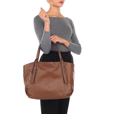 Женская сумка из мягкой кожи с длинными ручками Ripani