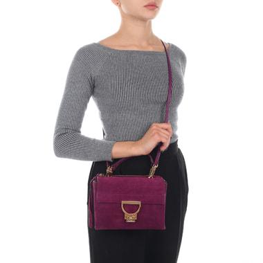 Маленькая замшевая сумочка с двумя отделами Coccinelle