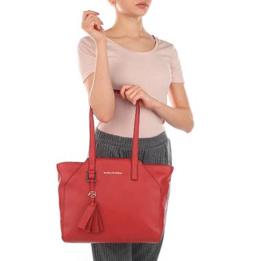 Женская кожаная сумка с длинными ручками Piquadro