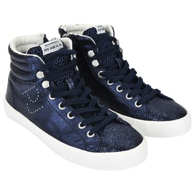 Женские кеды синего цвета Pepe Jeans London