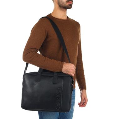 Мужская деловая сумка черного цвета Calvin Klein Jeans