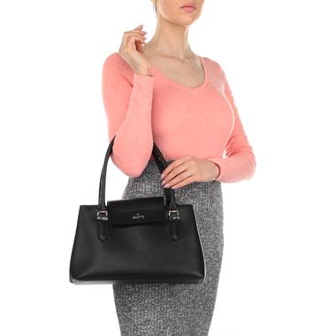 Черная женская сумка с длинными ручками Chatte