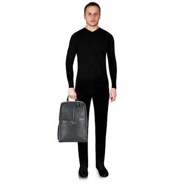 Вместительный рюкзак из натуральной кожи Piquadro
