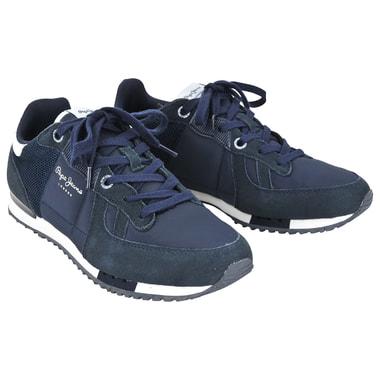 Мужские кроссовки из натуральной кожи и замши Pepe Jeans London