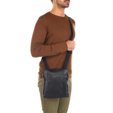 Мужская сумка через плечо из натуральной кожи Piquadro