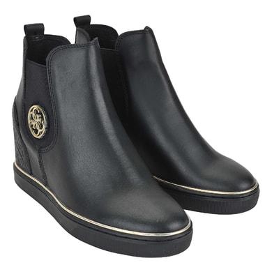 Высокие кожаные ботинки с эластичными вставками Guess