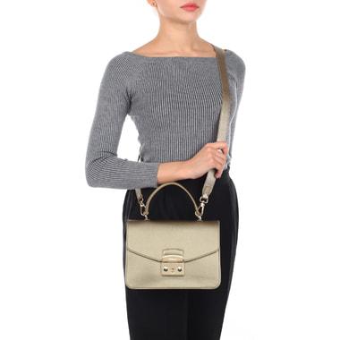 Женская кожаная сумка с откидным клапаном Furla