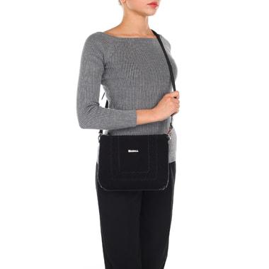 Маленькая замшевая сумка со съемным плечевым ремешком Marina Creazioni