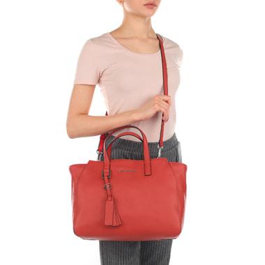 Женская сумка из красной кожи Piquadro