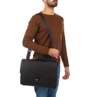 Мужской деловой портфель с откидным клапаном Piquadro