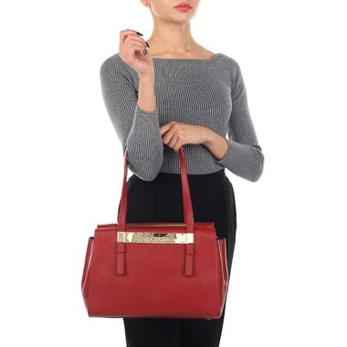 Женская кожаная сумка с длинными ручками Sara Burglar