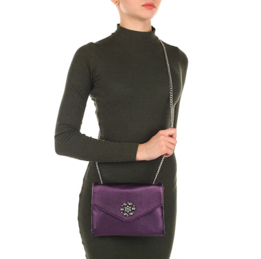 Женская кожаная сумка на цепочке через плечо Aurelli
