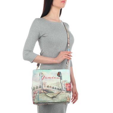 Женская сумка-тоут с длинными ручками Acquanegra