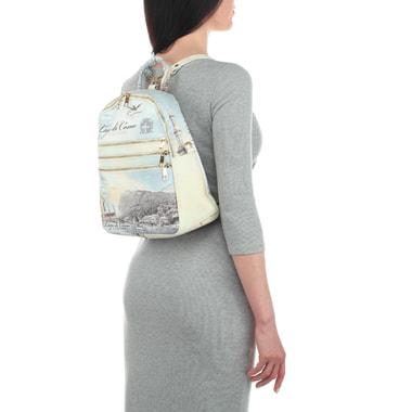 Кожаный женский рюкзак с принтом Acquanegra