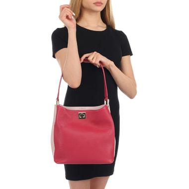 Женская кожаная сумка с двумя отделами Aurelli