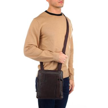 Мужская сумка-планшет из коричневой кожи Piquadro