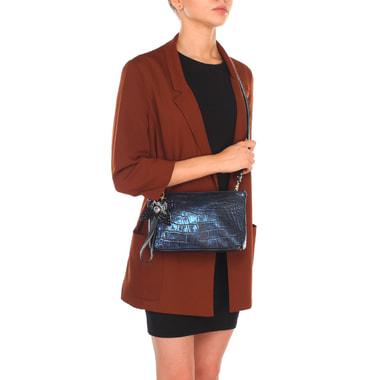 Женская сумочка с отделкой под крокодиловую кожу Marino Orlandi