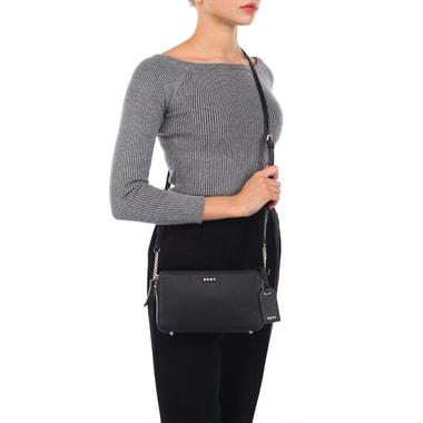 Маленькая кожаная сумка через плечо DKNY