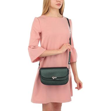 Женская сумочка из металлизированной кожи Chatte