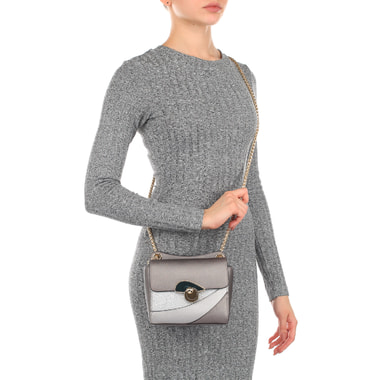 Маленькая сафьяновая сумочка с плечевой цепочкой Cromia