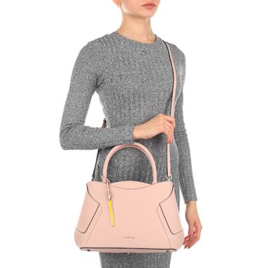 Кожаная сумка со съемным плечевым ремешком Cromia