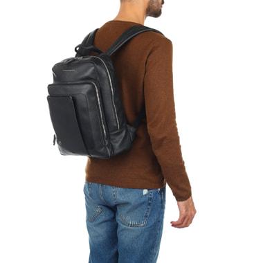 Мужской деловой рюкзак из кожи Piquadro