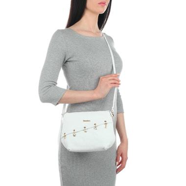 Белая сумочка с подвесками Marina Creazioni