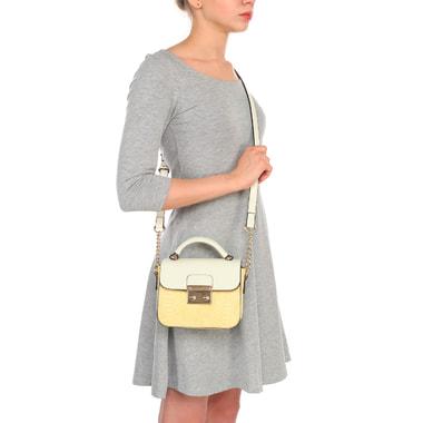 Маленькая женская сумка из экокожи с выделкой под рептилию Dispacci