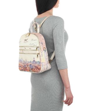 Женский кожный рюкзак с принтом Acquanegra