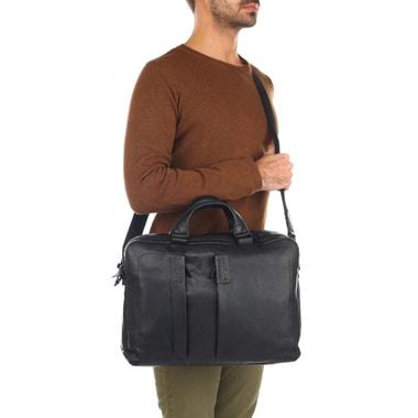 Мужская кожаная деловая сумка с отделением для ноутбука Piquadro