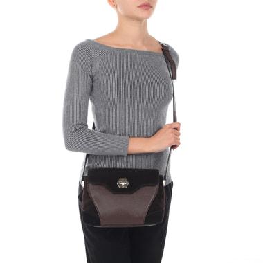 Маленькая женская сумка из натуральной кожи и замши Chatte