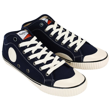 Мужские синие кеды на шнуровке Pepe Jeans London