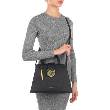 Женская сумка из черного сафьяна Cromia