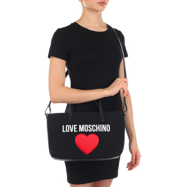 Черная женская сумка Love Moschino