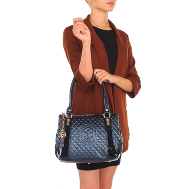 Женская кожаная сумка с тиснением Marino Orlandi