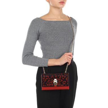Маленькая женская сумочка со стразами на откидном клапане Cavalli Class
