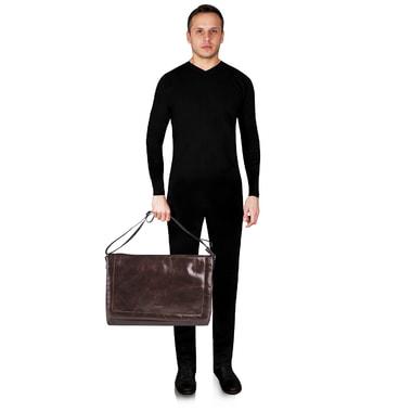 Мужская кожаная сумка через плечо Stevens