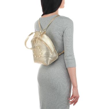 Женский рюкзак из металлизированной кожи Marina Creazioni