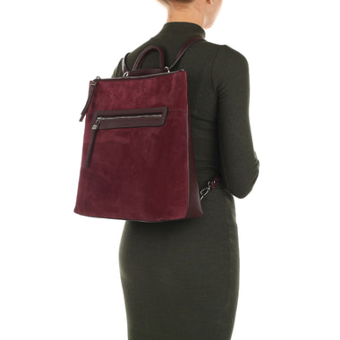 Женский рюкзак из натуральной кожи и замши Chatte