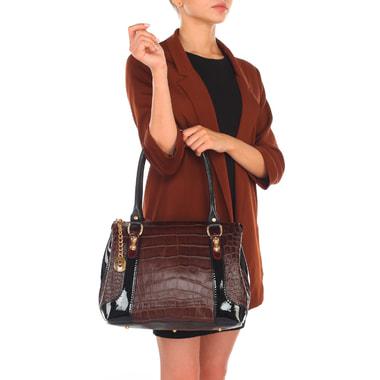 Женская сумка с отделкой под крокодиловую кожу Marino Orlandi