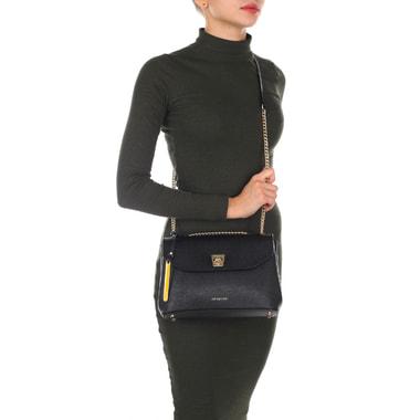 Женская сумка из сафьяновой кожи на цепочке через плечо Cromia