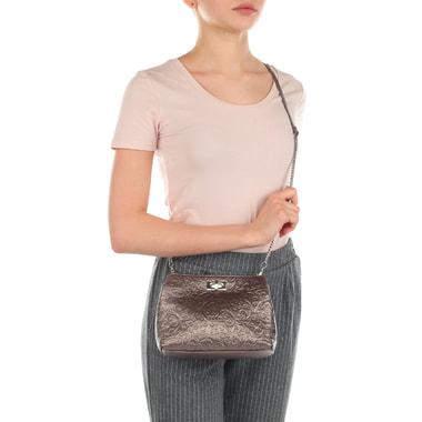 Женская сумочка с двумя отделами из натуральной кожи с тиснением Marina Creazioni