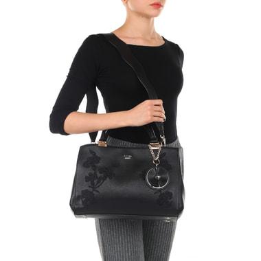 Женская сумка с цветочной вышивкой Guess